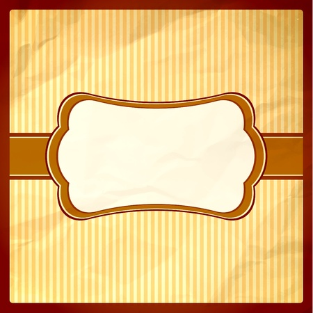 Chocolate themed frame on a crumpled paper Vector