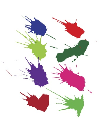 splotch: Set of isolated colorful blots