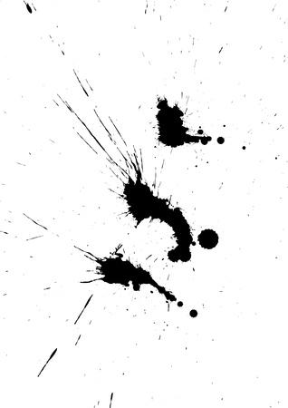 splashed: Ink blots Illustration