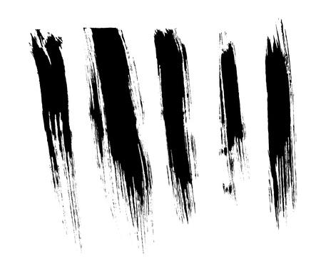 Set of brush strokes Vector