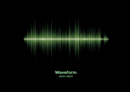 Sharp green waveform Vector
