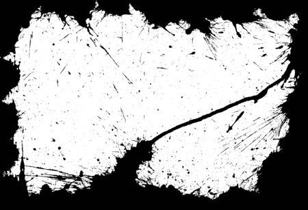 Ink blot frame Vector