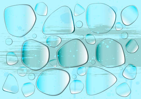 Glass blots Vector