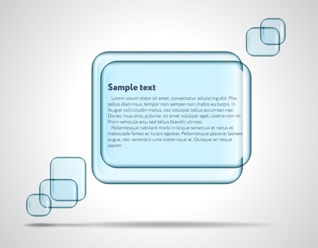 Square glass plates for text Vector