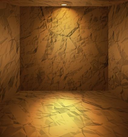 dug: Dug room with earthen walls Illustration