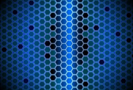 Abstract digital hive Vector