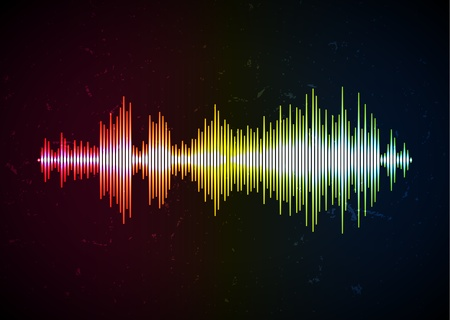 Shiny waveform Vector