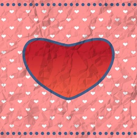 truelove: Crumpled Valentine card