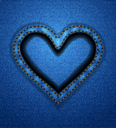 jeans fabric: Jeans heart frame