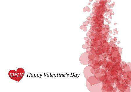 day saint valentin: Valentines card Illustration