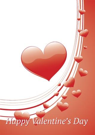 day saint valentin: Valentines day greeting card