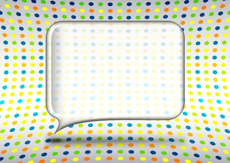 Glass speech bubble with dotted background Vector