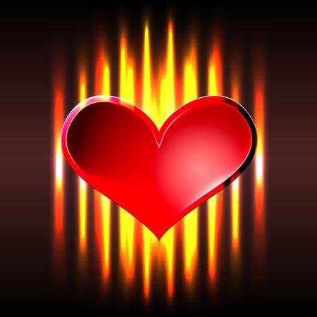 burning heart: Burning heart Illustration