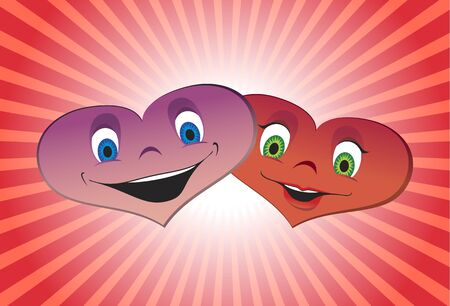 The couple of hearts Vector