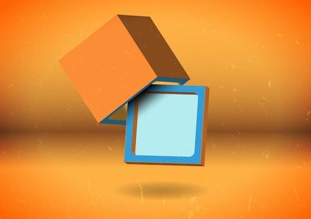 Abstract cube screen Vector