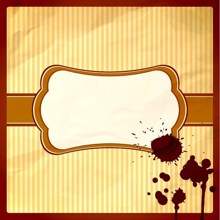 Crumpled frame with hot chocolate drops Vector
