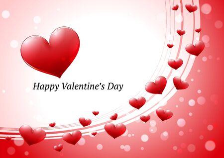 day saint valentin: Valentines Day greeting card Illustration