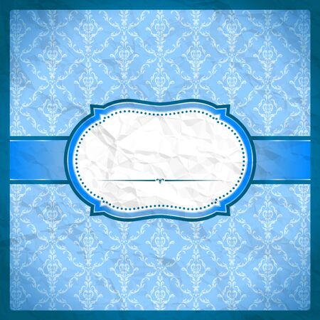 Crumpled vintage wallpaper with clouds Vector
