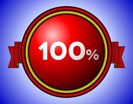 Vintage 100% sign Vector