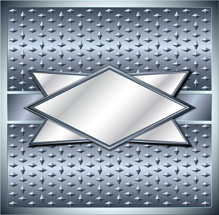 diamond plate: Rhombus metal frame