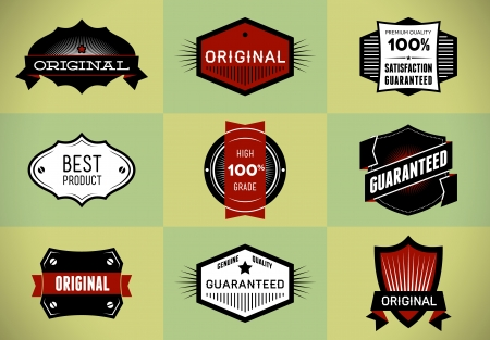 Set of Original and Premium labels Vector