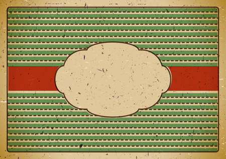 Vintage frame on cardboard Vector