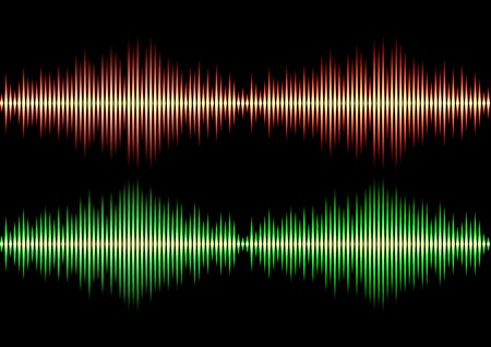 vibrations: Seamless music wave pattern