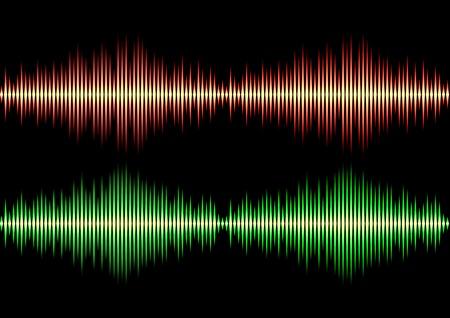 red sound: Seamless music wave pattern