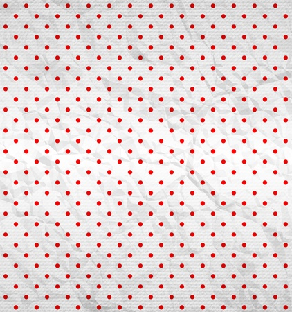 Polka dot pattern on textured surface Vector