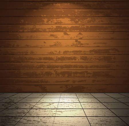 craquelure: Colorful pi�ce en bois avec carrelage au sol
