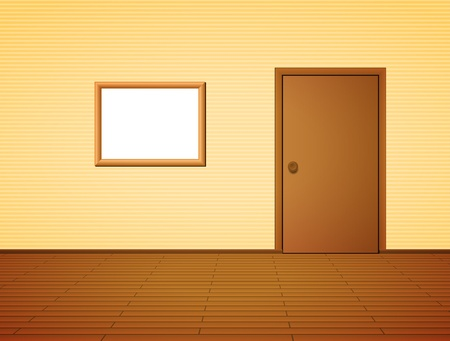 Room with door and frame Stock Vector - 12497091