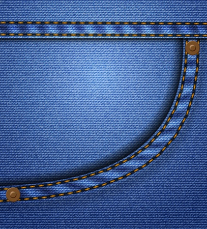 empty pocket: Jeans pocket Illustration
