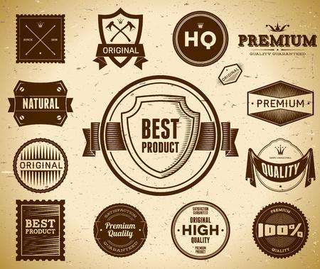Set of Premium Quality labels Reklamní fotografie - 12815923