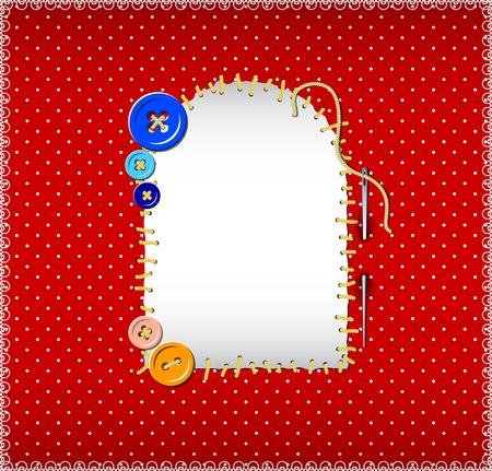 polka dot fabric: Patch ricamato su tessuto a pois