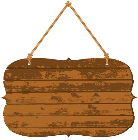 letreros: Letrero de Madera Vectores