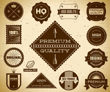 Premium Quality labels  Collection 5  Vector