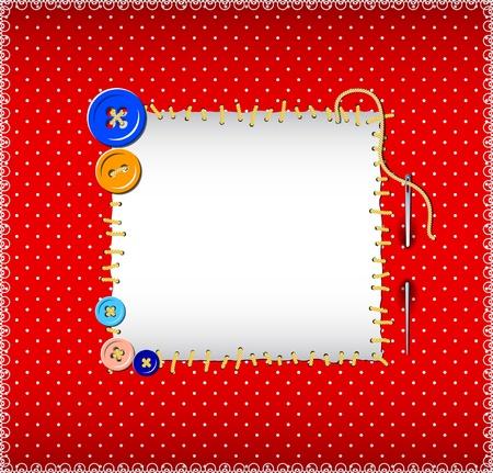 toppa: Polka dot modello con bottoni cuciti