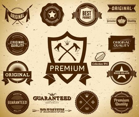 Vintage Premium Quality labels  Collection 6