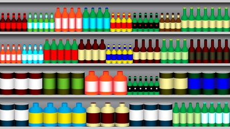 Supermarket shelves Vector