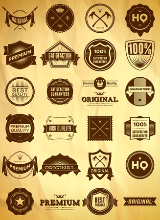 Set of vintage Premium Quality labels Stock Vector - 13005568