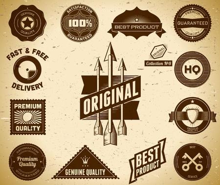 Set of vintage Premium Quality labels Reklamní fotografie - 13085466