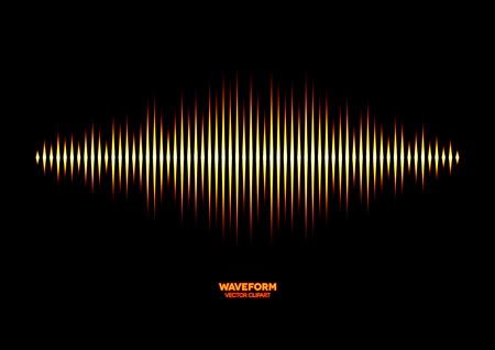 wavelength: Forma de onda de sonido brillante Vectores