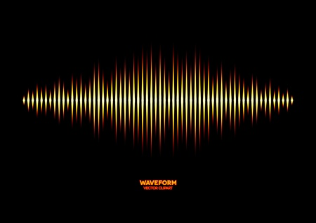 waveform: Forme d'onde sonore brillant Illustration