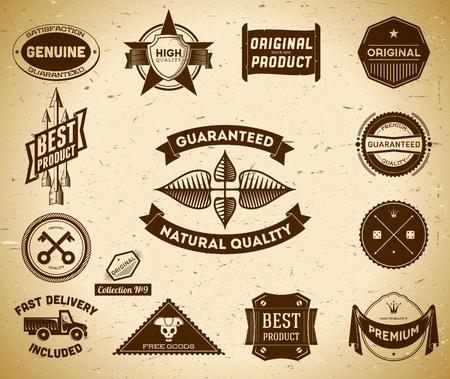 Set Vintage Qualitätsetiketten. Collection # 9