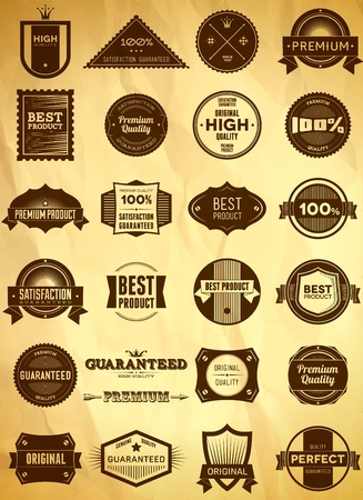 shield logo: Big set of vintage labels