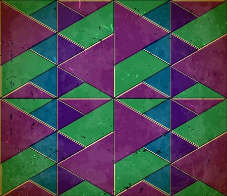 shifted: Pattern with shifted colors on the scratched cardboard