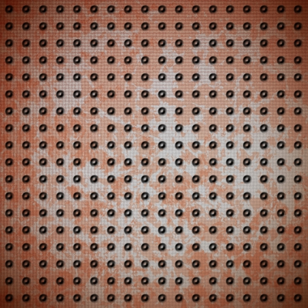 Rusty metal plate with protective rivet grid Stock Vector - 13683652