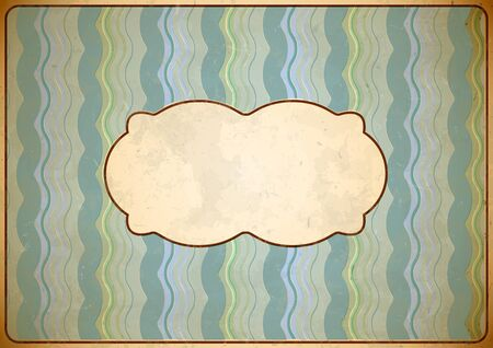 Weathered vintage cardboard frame with shifted colors Stock Vector - 13781804