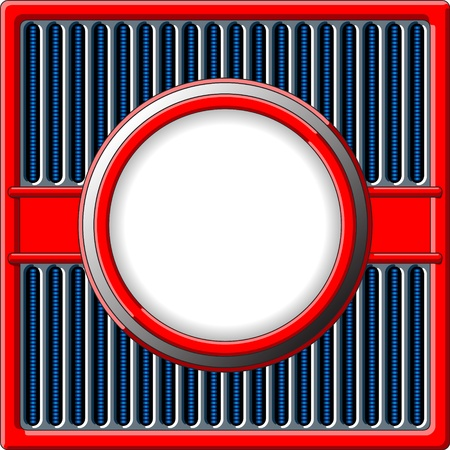 grille: 50s styled retro frame with chrome grille