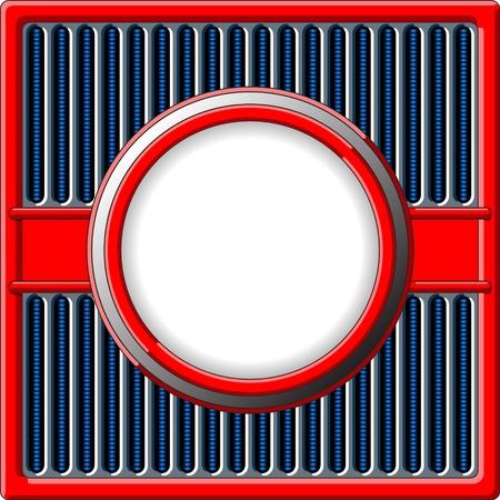 50er Jahre Retro-Stil Rahmen mit Chrom-Kühlergrill